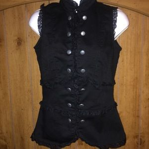 Morbid Threads Gothic Button Lace Black Size XS